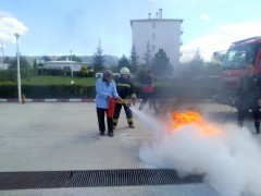 Beyşehir'de öğrenci yurdunda yangın tatbikatı