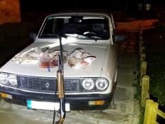 Derebucak'ta otomobil farıyla tavşan avına ceza