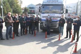 Beyşehir'den yardım tırı dualarla İzmir'e yola çıktı