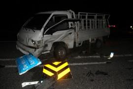 Konya'da kamyonetle otomobil çarpıştı: 6 yaralı