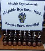 Akşehir'de kaçak içki ele geçirildi