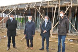 Akşehir'de yeni otogar inşaatı hızla yükseliyor