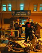 Çalınan motosiklet sahibine teslim edildi