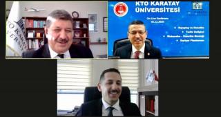 KTO Karatay Üniversitesinin konuğu Sayıştay başkanı oldu