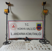 Konya'da 165 adet sikke ele geçirildi
