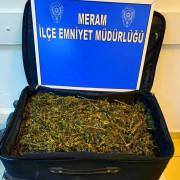Konya'da 5 bin 50 gram esrar yakalandı