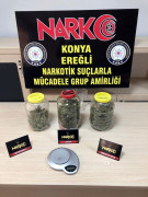 Konya'da uyuşturucu operasyonunda 3 tutuklama