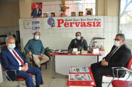 Başkan Akkaya'dan yerel gazete ve radyolara ziyaret