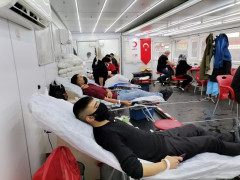 Kızılay Kulu'da 380 ünite kan aldı