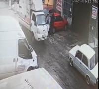 Konya'da bacanağını ve kayınpederini öldüren zanlının cinayet anı kamerada