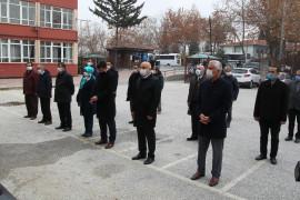 Konya'da okul bahçesinde İstiklal Marşı okundu