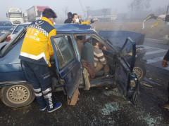 Konya'da sisli hava kazaya sebep oldu: 4 yaralı