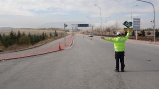 Konya'da yeni yılın ilk gününde yollar boş kaldı