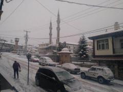 Konya'nın ilçelerinde etkili kar yağışı
