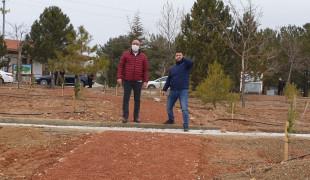 Meram Belediyesi Dutlu Millet Bahçesi'nde revizyon çalışması başlattı