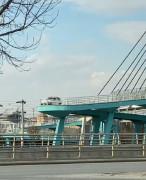 Yaya köprüsünden geçmeye çalışan sürücüye ceza