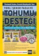 Konya Büyükşehir'den üreticiye yerli şeker fasulye tohumu desteği