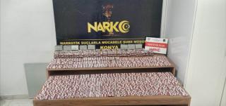 Konya'da 15 bin 294 adet uyuşturucu hap ele geçirildi