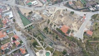 Meram Çamlıbel'de çevre düzenlemesi sürüyor