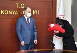 Şanlı Türk bayrağı Konya'dan Çanakkale'ye uğurlandı