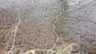 Toros Dağlarında yağışlar sonrası akan sular görsel şölen oluşturdu