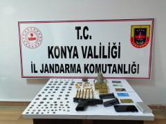 Konya'da 91 adet tarihi eser ele geçirildi
