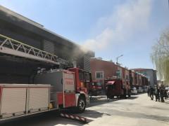 Konya'da ayakkabı imalathanesinde yangın