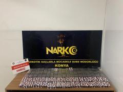 Konya'da narkotik ekipleri 8 bin 111 uyuşturucu hap ele geçirdi