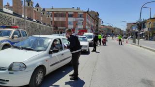 Karapınar'da polisten kısıtlama denetimleri