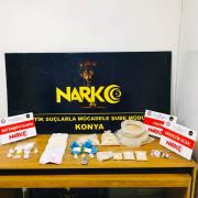 Konya'da 4 kilo 115 gram eroin ve metamfetamin ele geçirildi