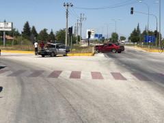 Konya'da otomobiller çarpıştı: 1 yaralı