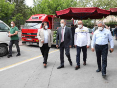 Vali Özkan, Covid-19 tedbirleri kapsamında pazar yerlerini denetledi
