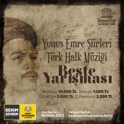 Konya Büyükşehir'den Yunus Emre Şiirleri Türk Halk Müziği Beste Yarışması