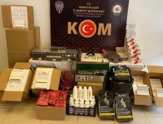 Konya merkezli 5 ilde kaçak sigara operasyonu: 9 gözaltı