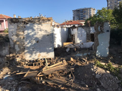 Metruk binada göçük: 1 yaralı