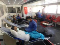 Kulu'da seyyar kan alım tırında 3 günde 180 ünite kan toplandı